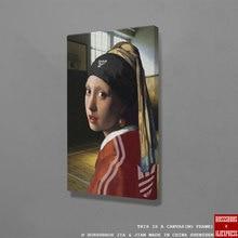 Menina com uma pérola brinco diversão arte da parede lona decoração poster imprime para sala de estar decoração do quarto casa pintura