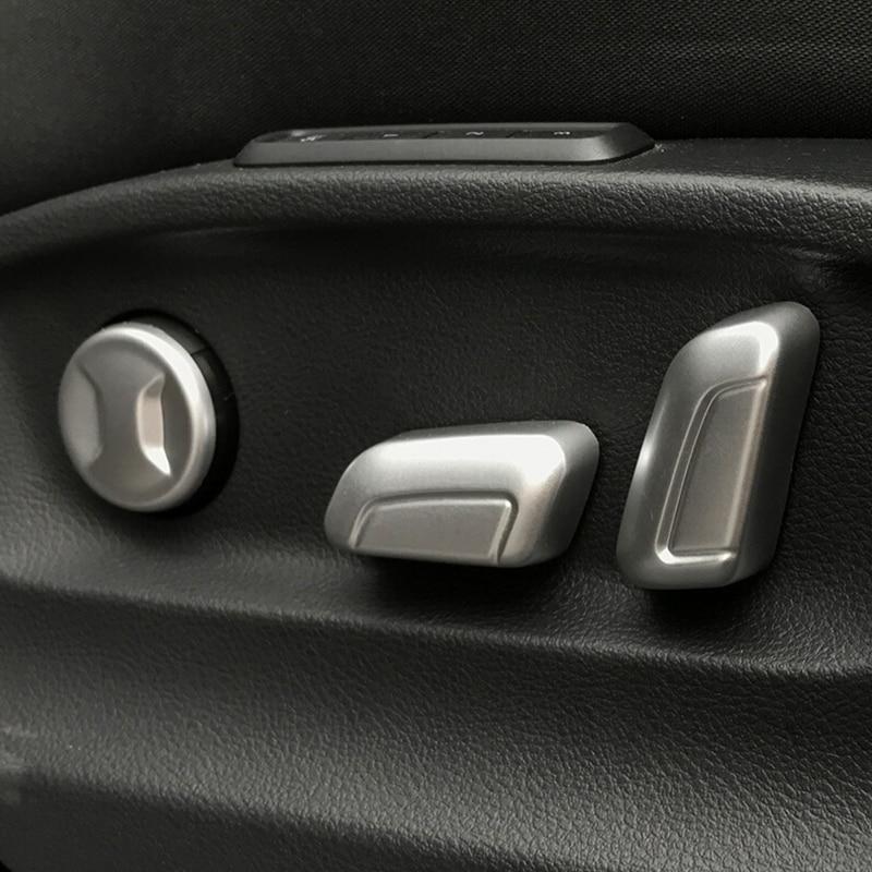 Para skoda superb estilo do carro acessórios automóveis 2016 2017 2018 abs chrome interruptor de ajuste do assento carro capa guarnição