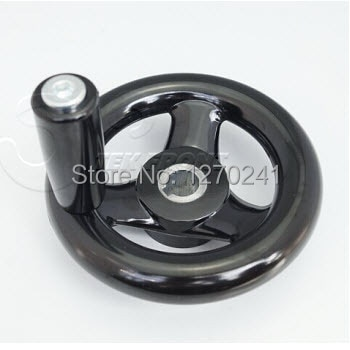 TF04006--12*100mm  Bakelite Three Spokes handwheel with/without handle