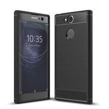 For Sony Xperia XA1 XA2 Ultra Shockproof Carbon Fiber Soft tpu Anti-Knock Phone Case Cover For XZ1 Compact XZ XZS XZ2  Premium