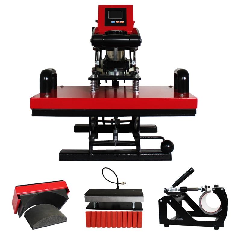 ¡La más barata! pluma de calidad superior tapa taza 4 en 1 Combo Multi función máquina de prensado en caliente con 29x38cm 9x12 pulgadas tamaño de impresión HP4IN1P