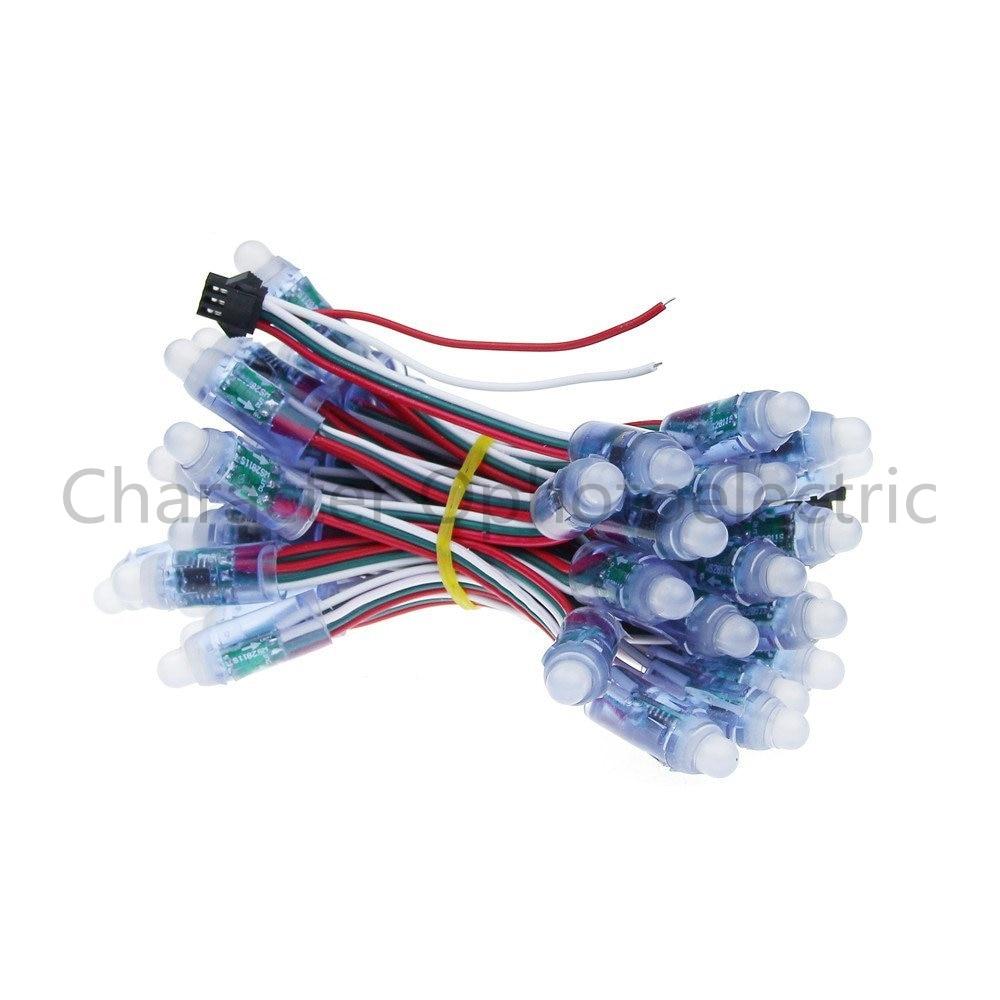 50 pcs/lot 12mm WS2811 2811 IC RGB Led Module String Waterproof DC12V Digital Full Color LED Pixel Light
