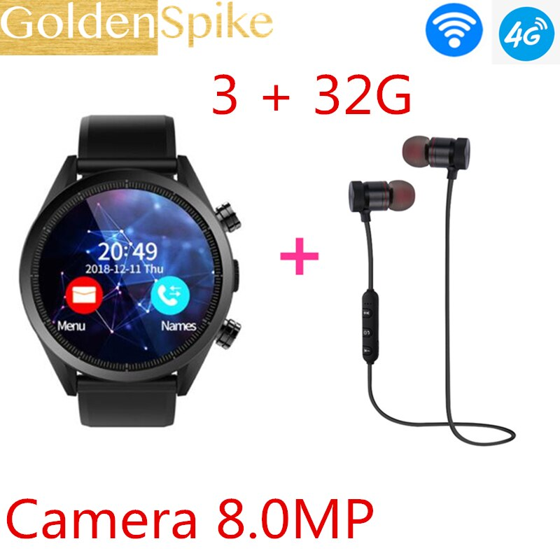 Kospet Hope 4G Smartwatch Phone Android 7.1 Quad Core 1.3GHz 3GB RAM +32GB ROM 8.0MP Camera IP67 BT V4.0 Waterproof Smart Watch