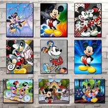 100% tam yuvarlak 5D Diy elmas boyama tam kare karikatür Mickey Mouse elmas kakma elmas nakış ev dekorasyon SSC226