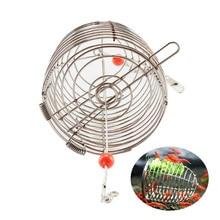 Stainless Steel Cage Aquarium Shrimp Small Bait Feeder Dry Spinach Feeding Fish Shrimp Feeders Nest Round Basket