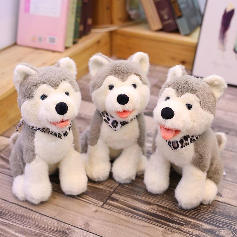 Husky-perro de peluche realista para niños, animales de peluche, suave, regalo