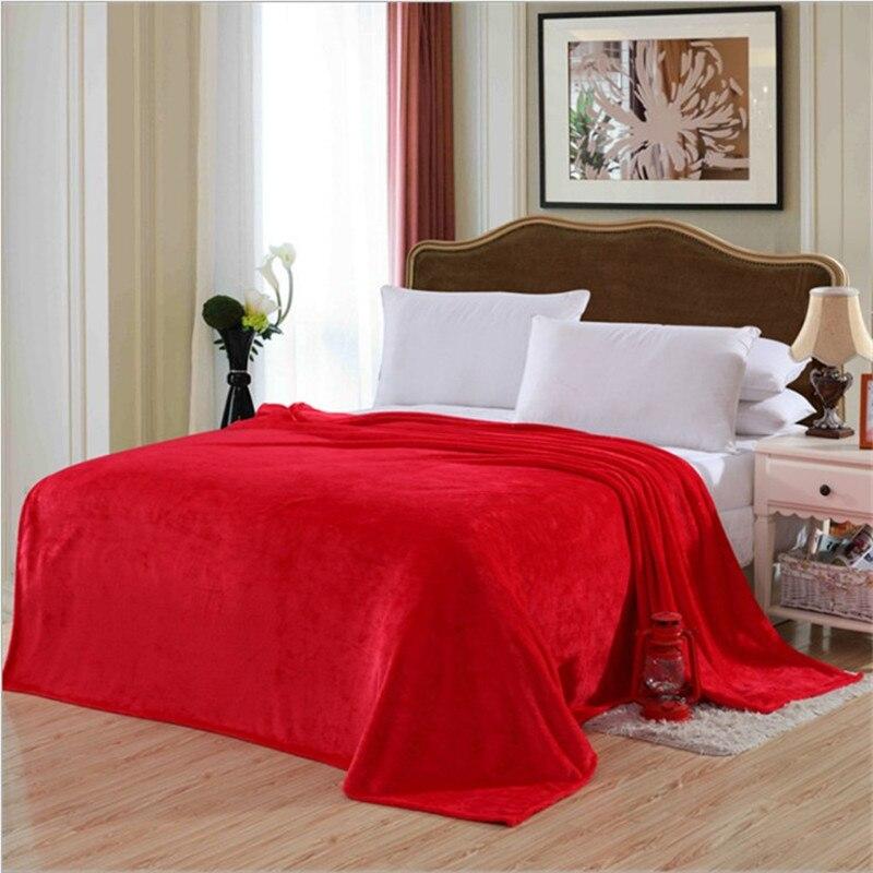 150*200cm franela/sofá/aire/ropa de cama manta de viaje de color sólido 11 colores diferentes juego de edredón cama