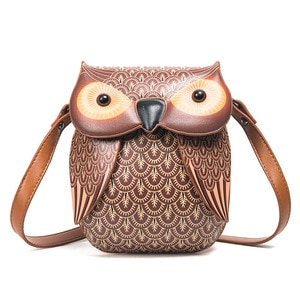 2018 New Cute Owl Shoulder Bag Purse Handbag Women Messenger Bags For Summer Girls Cartoon With Crossbody Phone Bag Owl Bags
