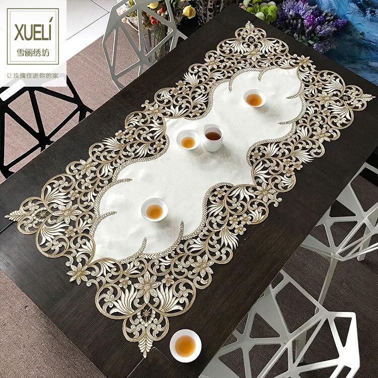 مفرش طاولة مستطيل مطرز من mantel ، مفرش طاولة للشاي ، غطاء طاولة مزخرف