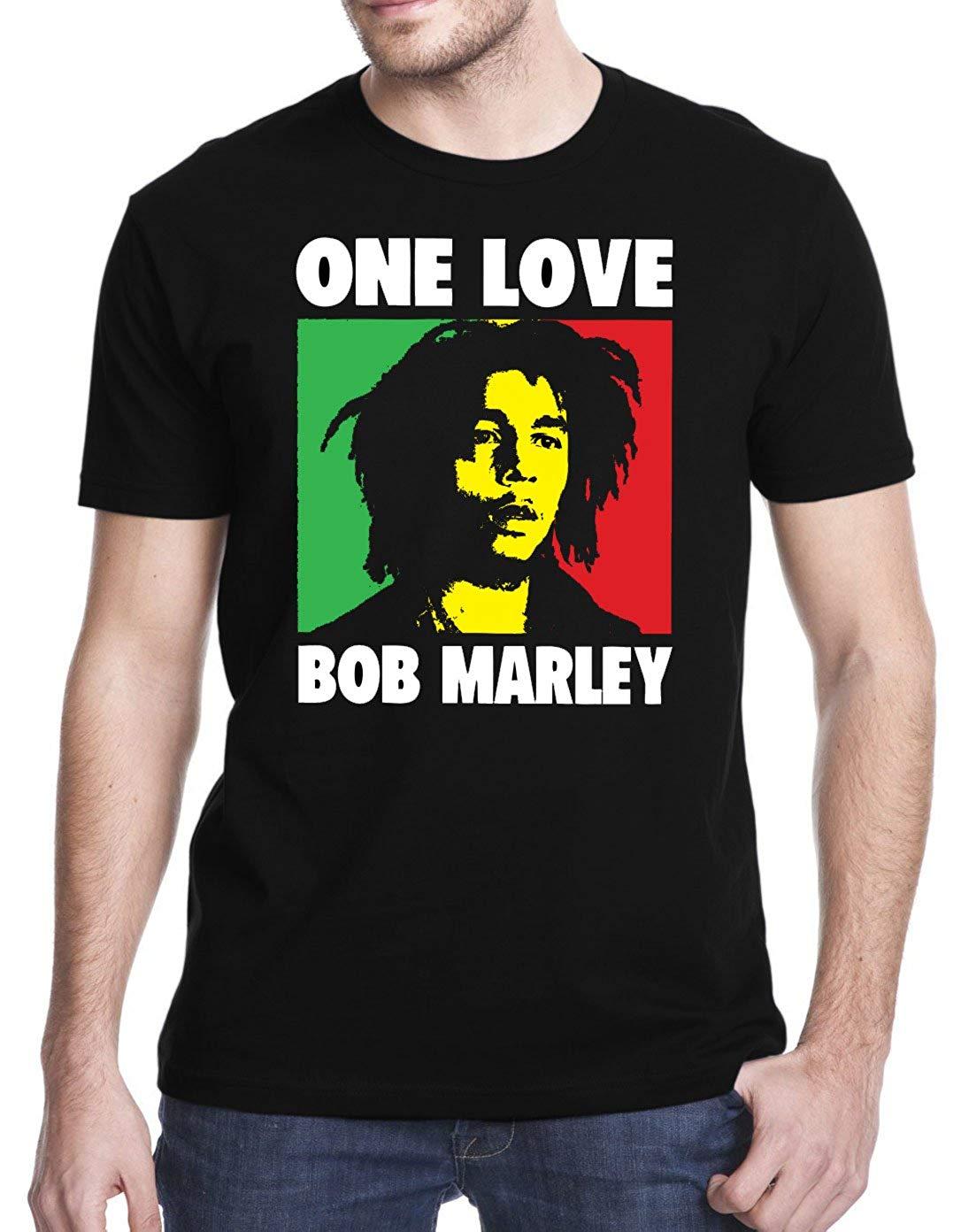 Bob Marley Una Camiseta de algodón de manga corta T camisas de Hombre Ropa de manga corta de descuento de algodón 100% T camisas Camiseta TEE superior