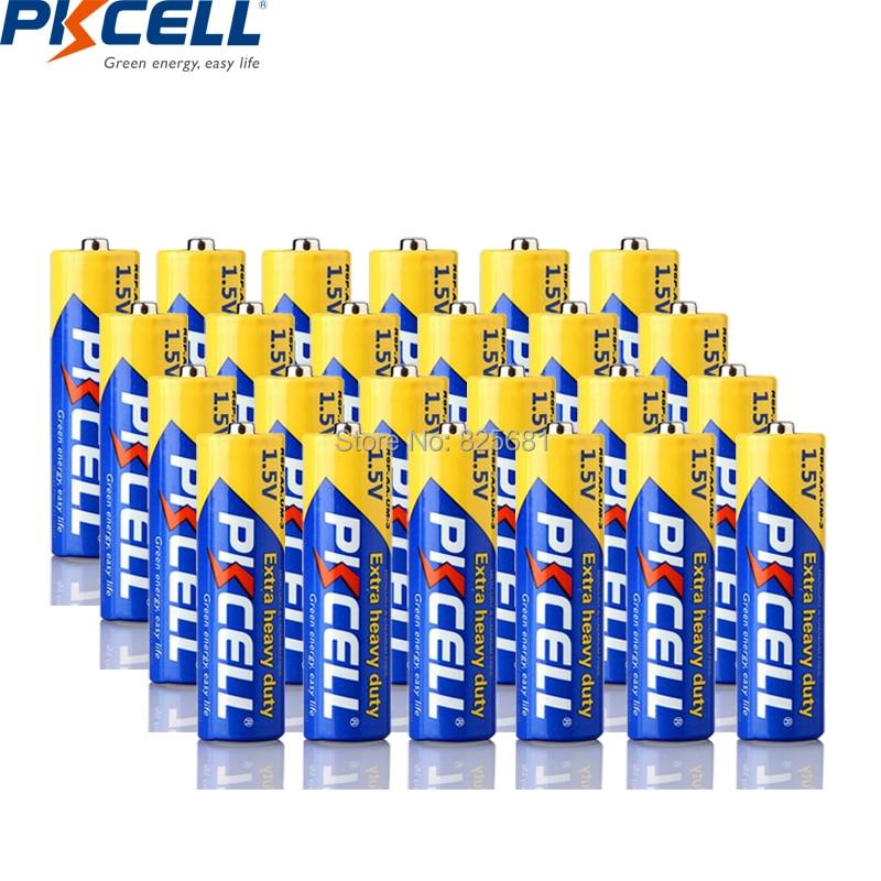 PKCELL 24 шт. AA батарея супер сверхмощная R6P UM3 MN1500 E91 105 мин aa Baterai 1,5 V керкеринг Tugas Super Berat для часов