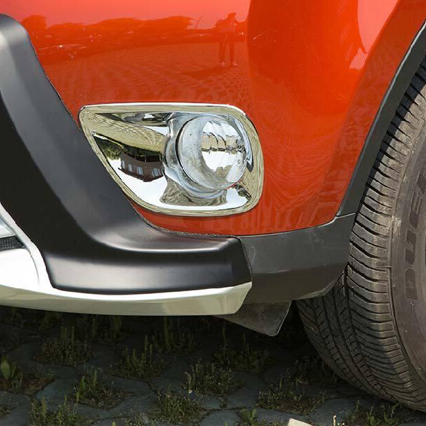 ¡NOVEDAD DE 2015! 2 unids/lote cubierta de luz antiniebla delantera para coche Pantalla de diseño cromada para Toyota RAV4 HT201