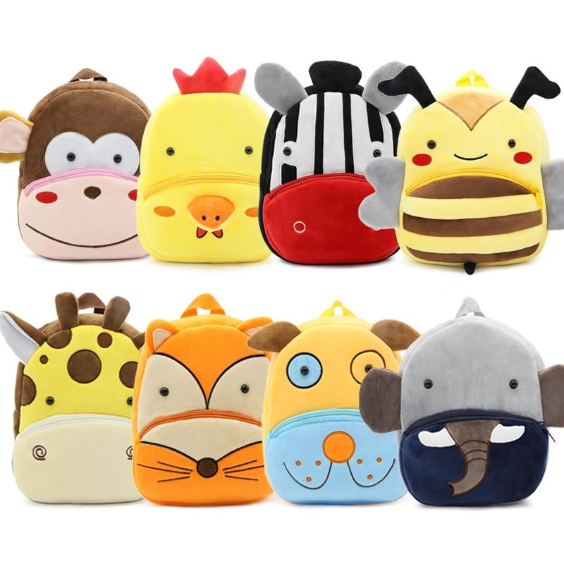 New Kawaii Stuffed Plush Kids Baby Toddler School Bags Backpack Kindergarten Schoolbag for Girls Boy