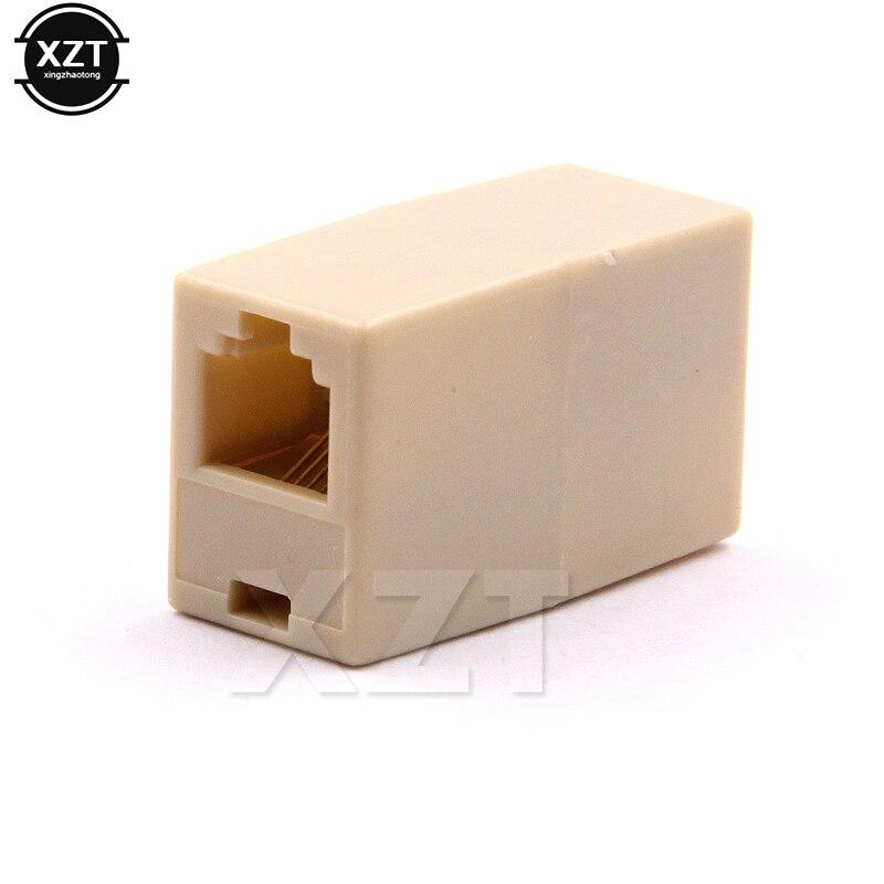 Горячая 50 шт./лот RJ11 6P 4C телефонная прямая муфта, телефонный кабель удлинитель соединитель адаптера