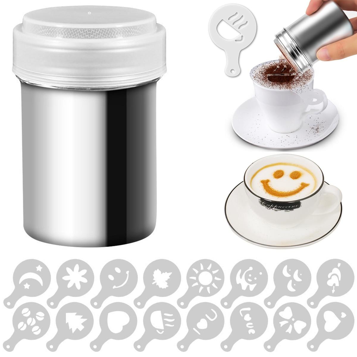 Капучино форма причудливый кофе печать модель пена спрей торт трафареты порошкообразный сахар шоколад Какао Кофе Печать AssemblyD40
