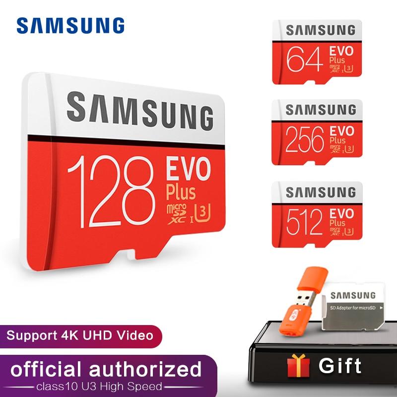 SAMSUNG tarjeta de memoria Micro SD 32GB 64GB 128GB 256GB 512GB SDHC SDXC grado EVO + Clase 10 C10 UHS TF tarjetas SD Trans Flash Microsd
