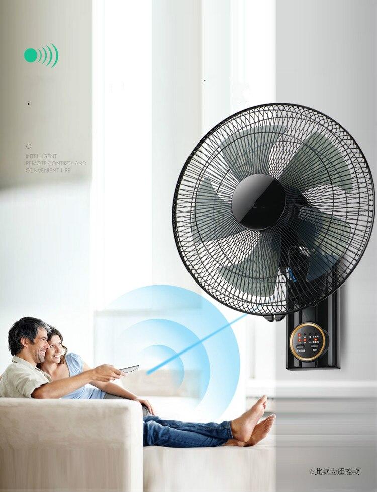 "Ventilador de pared ventilador de pared hogar silencioso 16 ""control Remoto sacudida cabeza pared colgante ventilador 18"" restaurante ventilador de pared"