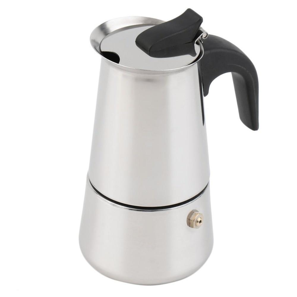 Cafetera Espresso 2/4/6-taza percolador estufa superior cafetera Moka Espresso Latte inoxidable olla gran oferta para hornear café