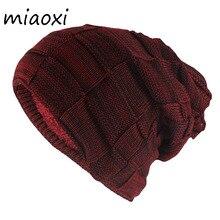 Gorros y Gorros de invierno miaoxi Hip Hop de moda para adultos, Gorros y Gorros de lana para hombres, cálidos, informales, tejidos, Unisex, color sólido, sombreros de lana para mujeres