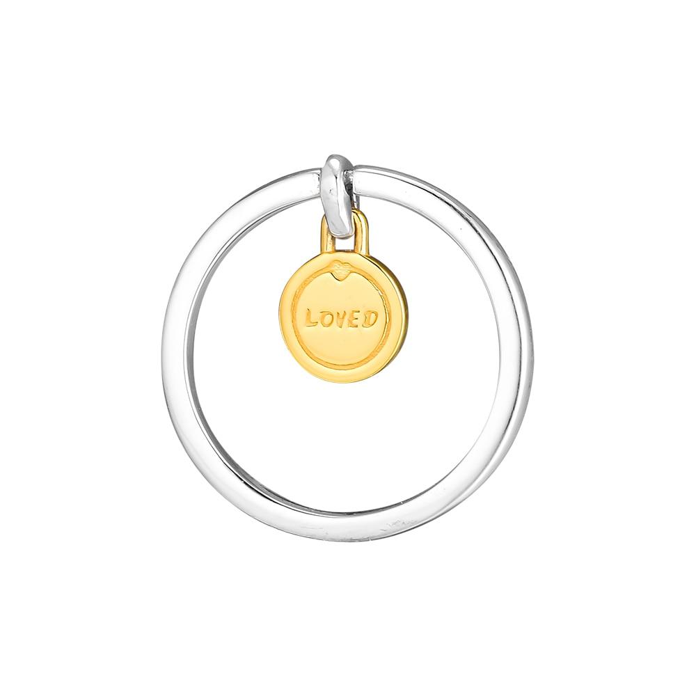 Joyería CKK de plata 925, medallón de amor, anillos brillantes para mujer, regalo de aniversario, anillo Original de plata esterlina