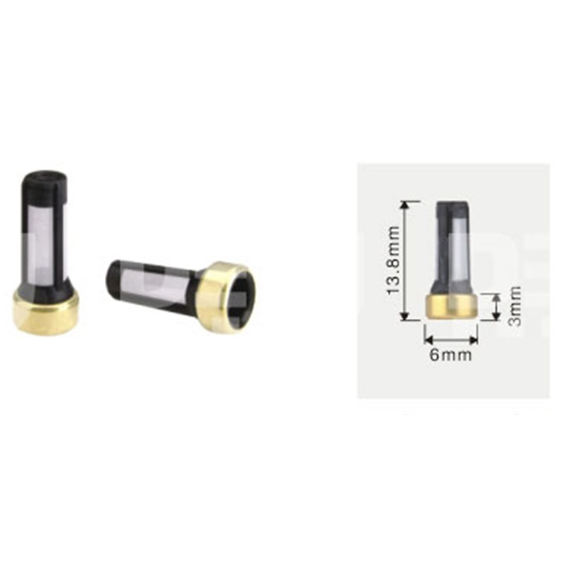 Envío Gratis Tenso tamaño 6*3*13,8mm para inyector de combustible cesta filtro inyector de combustible Kit de servicio de reparación TS1004A