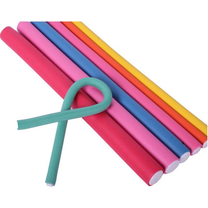 30 Uds DIY peinado flexible pelo herramientas de plástico rizador de palillo suave espiral salón rizadores de pelo suave rizos