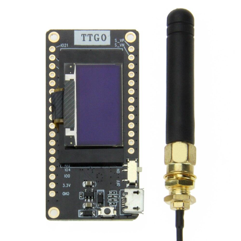 TTGO LORA32 V2.0 433/868/915Mhz ESP32 LoRa OLED 0,96 tarjeta SD en pulgadas pantalla azul Bluetooth WIFI ESP32 MÓDULO DE ESP-32 con antena