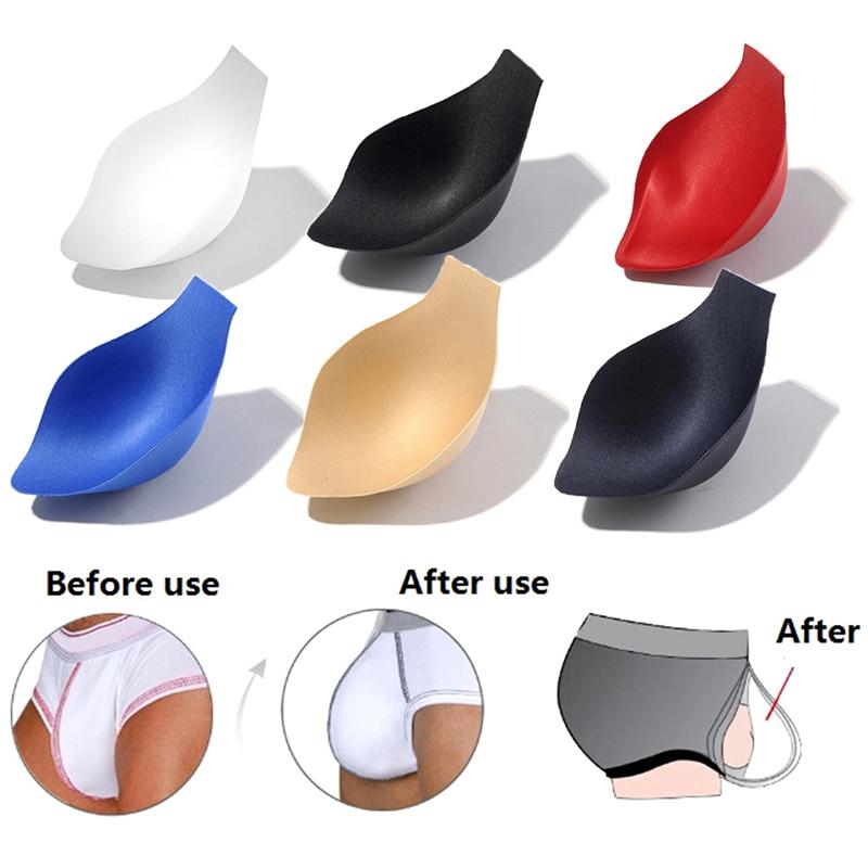 1PC Soft Sponge Pouch Swimwear Enhancer Underwear Cup Briefs Shorts Jockstrap Bulge Pad Cup Insert F