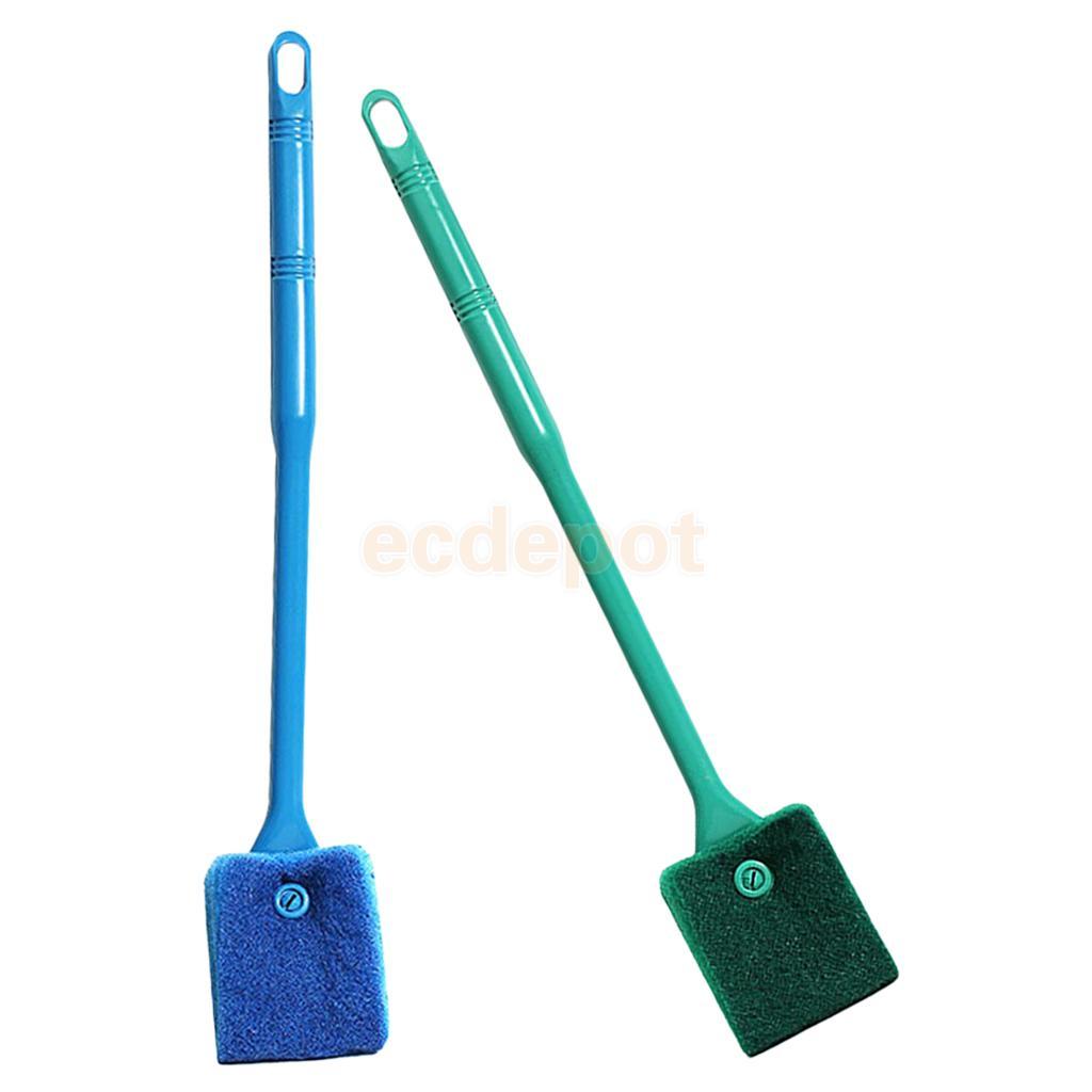 Double-side Sponge Brush Cleaner Cleaning Kits Algae Scrapper Scrubber for Fish Tank Aquarium Glass Clean