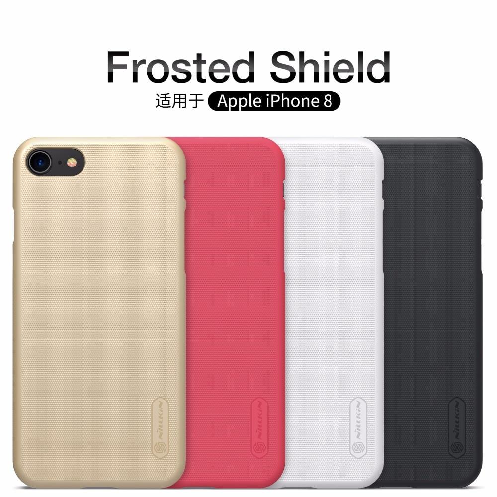 Para el iphone de Apple 8 caso iphone 8 plus 4,7 y 5,5 pulgadas estuche protector Super esmerilado NILLKIN de funda carcasa trasera dura para iphone 8