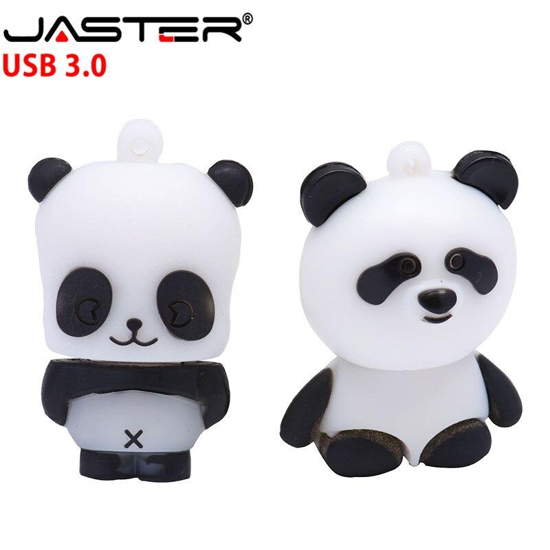 USB jaster 3,0 envío gratis panda USB lash drive pendrive con memoria de disco u 4GB16GB 32GB 64GB capacidad Real envío gratis