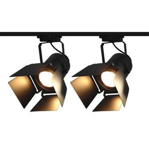 Thrisdar 45W Retro Industrial LED Track Lamp Spotlight Creative Restaurant Coffee Shop Clothing Store Four Leaf Track Light