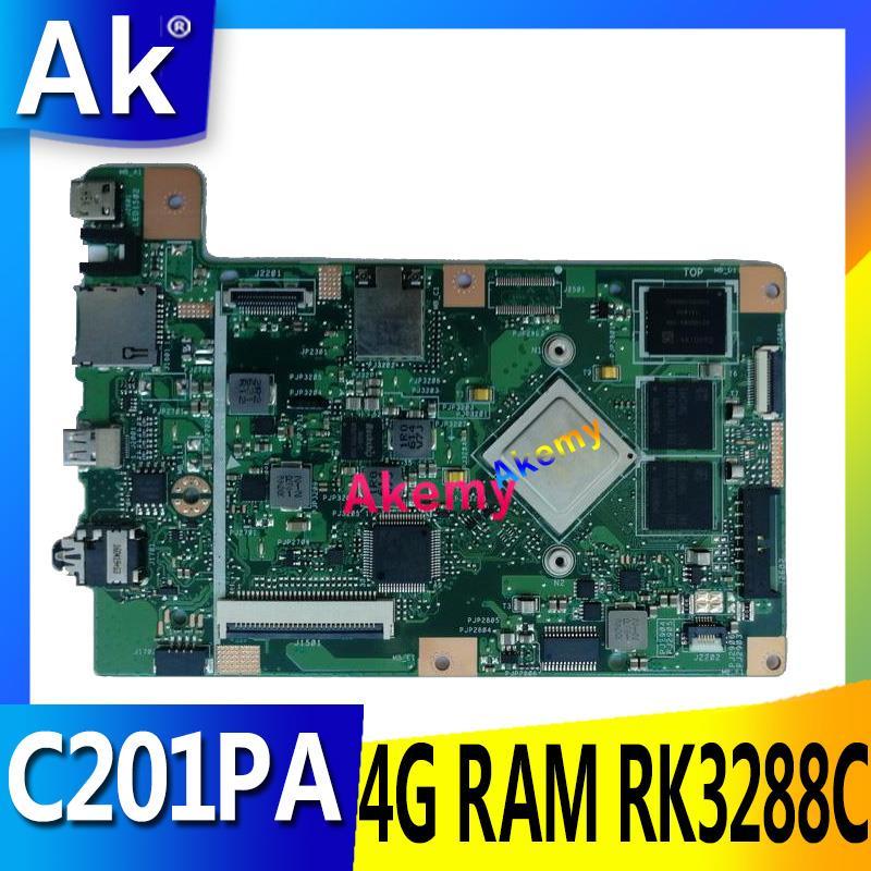 Placa base de ordenador portátil AK C201PA para ASUS C201PA C201P C201 placa base original de prueba 4G RAM RK3288C
