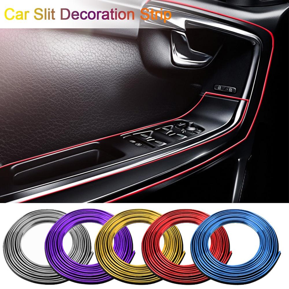 Новый 5 м автомобильный Стайлинг интерьера наружные украшения полосы литье Отделка приборной панели край двери универсальный для автомобилей авто аксессуары
