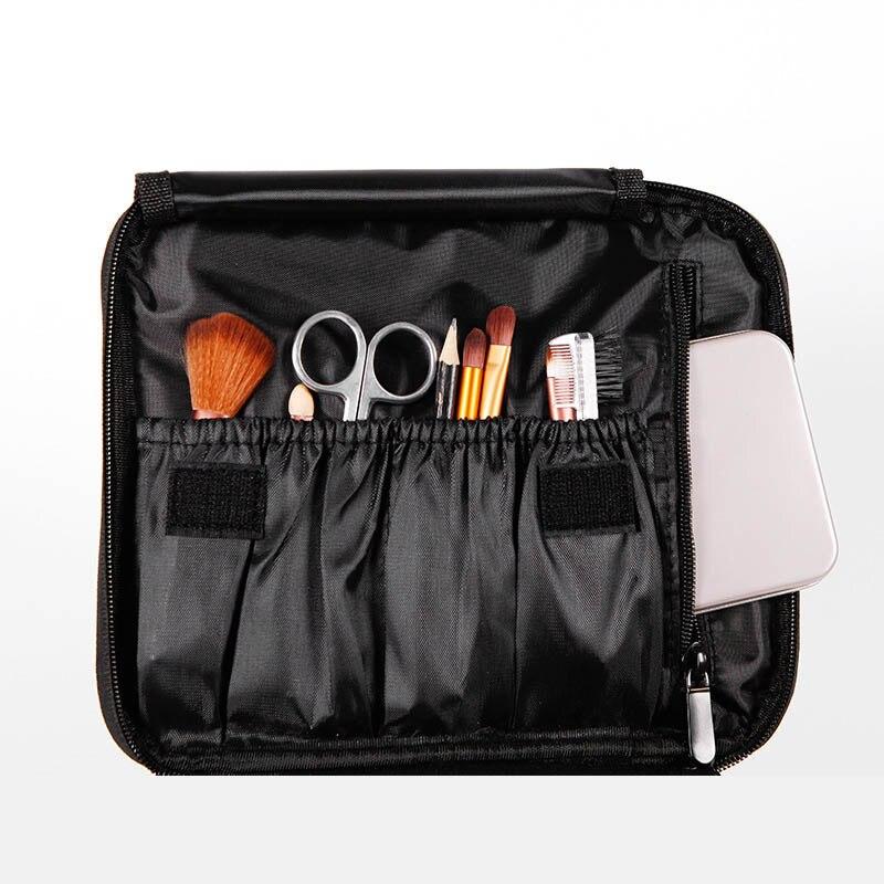 Venta caliente portátil de viaje bolsa de almacenamiento de maquillaje de doble capa organizador de Caja impermeable Mini bolsa de tren-B5