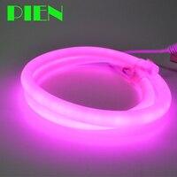 LED Round Neon Rope light Flex 220V Waterproof tube lamp 320 degree for home garden decor Warm white 15m 25m 50m 100m Free ship