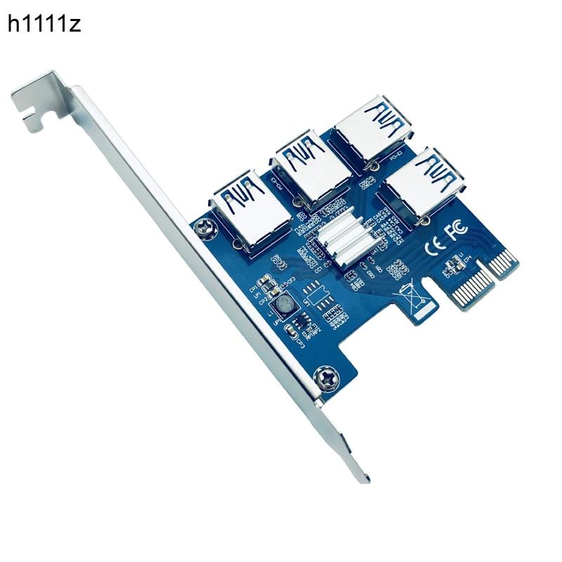 بطاقة PCI-E PCI Express Riser ، 1x16x1 to 4 USB 3.0 ، فتحة ، محول محور متعدد ، لتعدين بيتكوين ، Antminer BTC Riser