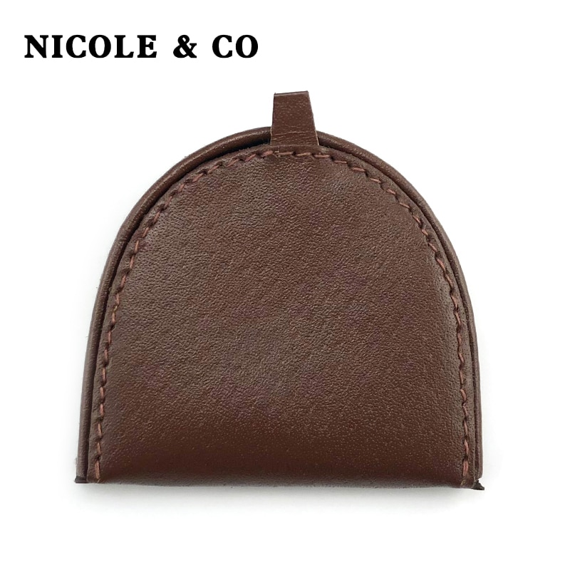 AliExpress - NICOLE & CO Men's Vintage Genuine Leather Wallets Short coin purse  Classic Small Bag  Unisex Solid purses Popular coin storage