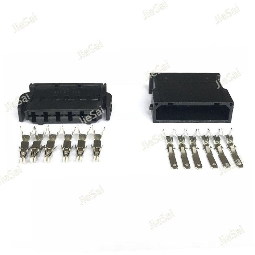 6 Pin Female Male Fuel Injector Connector Dash Sensor Plug 872 862 521 1-1670920-1 For VW Audi