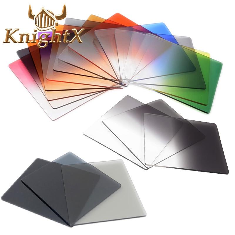 KnightX Absolvierte Farbe Platz Filter ND Neutral Density Cokin P serie Für nikon canon D5200 D5300 D5500 52 MM 55 MM 58 MM 62 MM