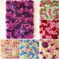 40cm60cm artificial silk colorful rose flower wall wedding background lawnpillar flower wedding supply party flowers wall
