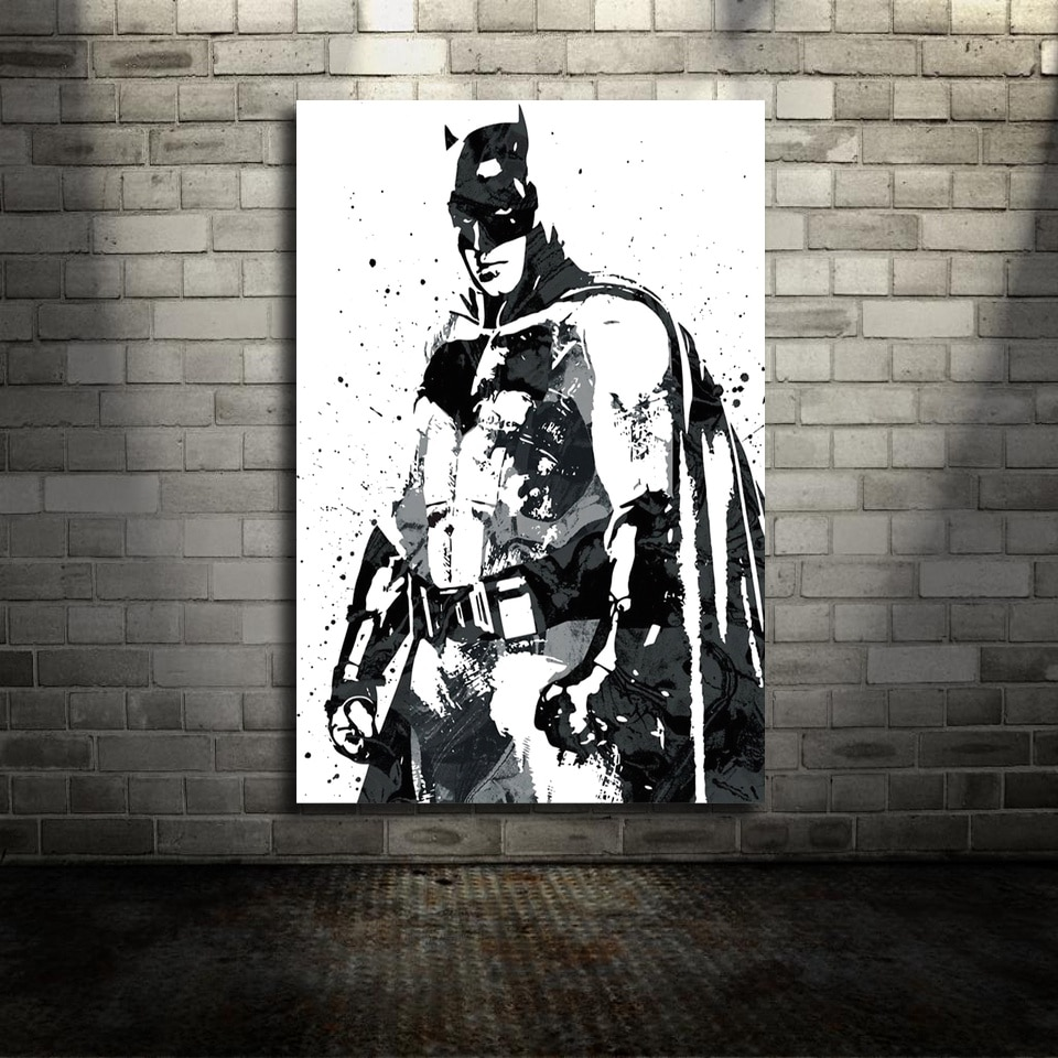 Batman DC Film Leinwand Poster Wand Kunst Druck Kinder Decor Home Decor