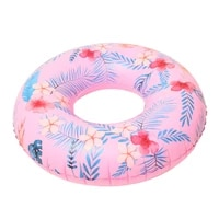 women floral print swimming ring pink inflatable flamingo swimming circle inflatable donut lifebuoy girls beach toys 2019 summer