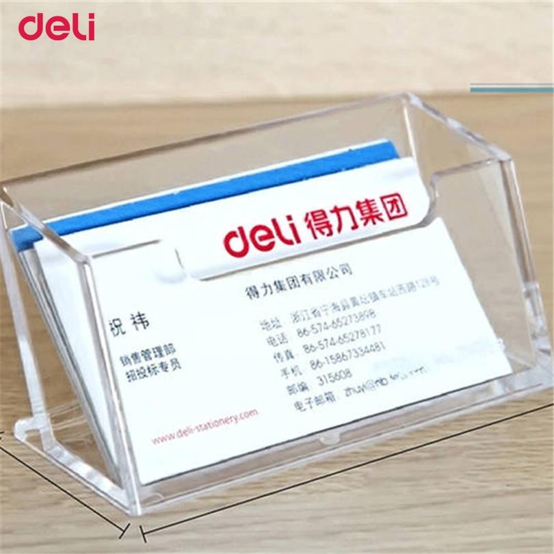 Большой Вместительный держатель для карт Deli, держатель для карт, модная металлическая Твердая стальная коробка для визиток