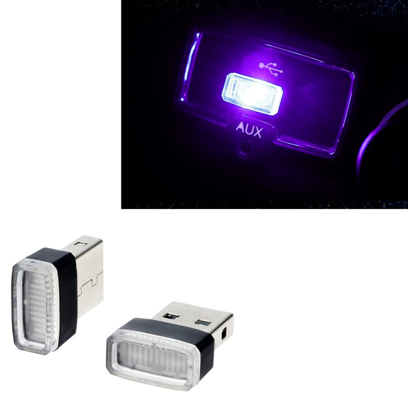 Car-Styling USB LED Atmosphere Lights Decorative Lamp for Jaguar XF XFL XE XJ XJL F-Pace F pace fpace X761 XJ6 XKR XK8 X320 X308
