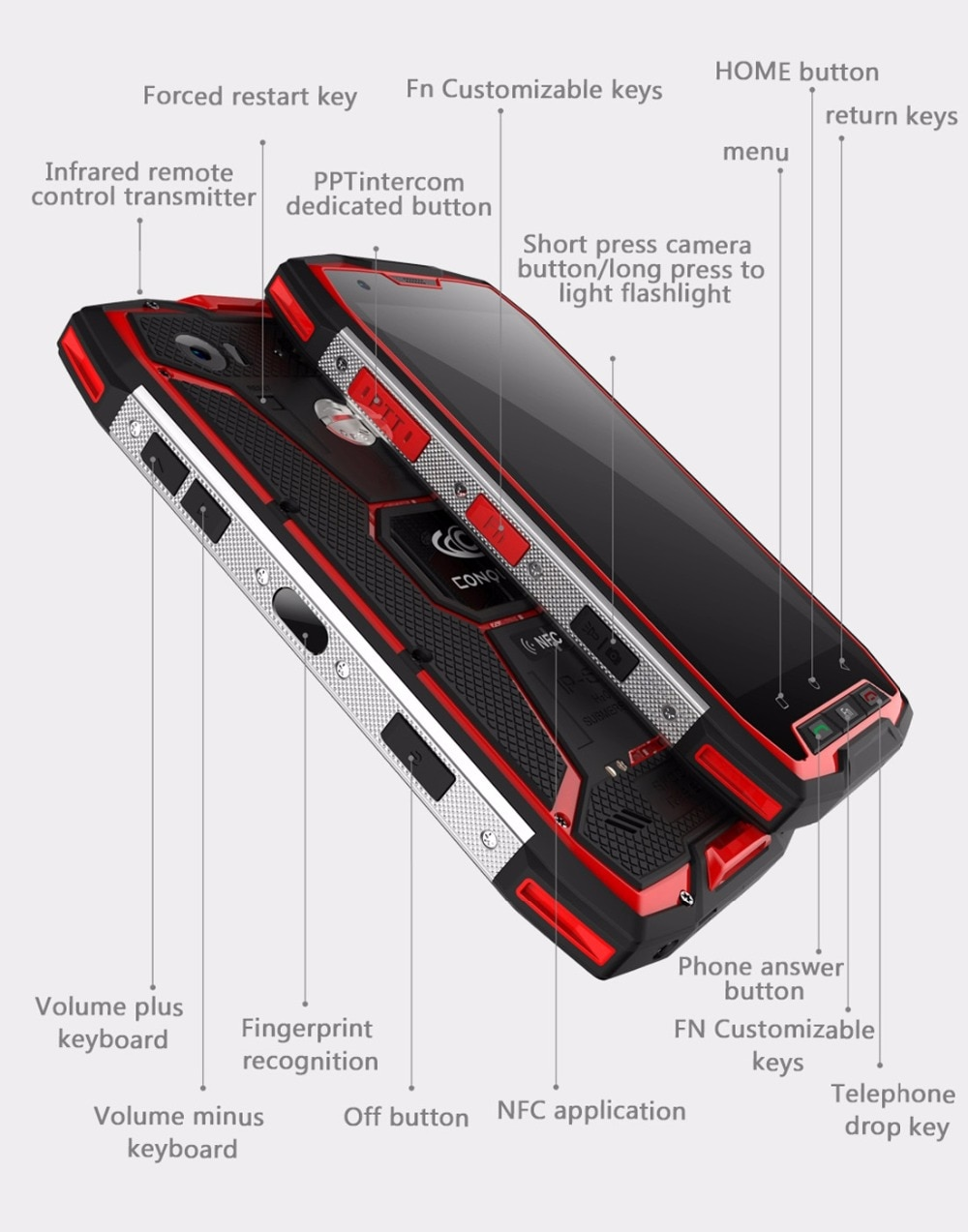 Conquest S9 128GB ROM 6GB RAM IP68 Waterproof Smartphone Android 7.1 5.5 inch FHD MTK6757 2.6GHz Octa core Shockproof Phone NFC