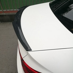 M4 style For Audi A4 B9 Spoiler 2016 - UP Carbon Spoiler Rear Trunk Spoiler Carbon Fiber for A4 carbon spoiler wings