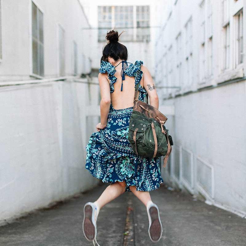 Boho zainspirowany 2017 letnie sukienki kwiatowy print cotton backless długi maxi dress hippie chic ruffles rękawem kobiety sexy vestidos 11