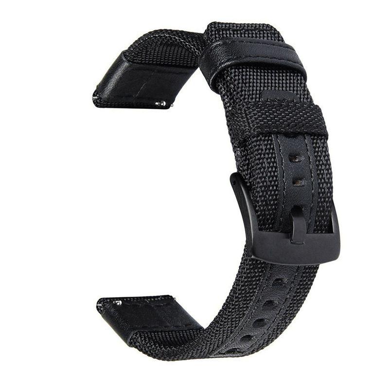 22mm Woven Nylon&Luxury Leather Watch Band Strap for Samsung Gear S3 Frontier/S3 Classic/HuaWei watch 2pro/Garmin Fenix Chronos