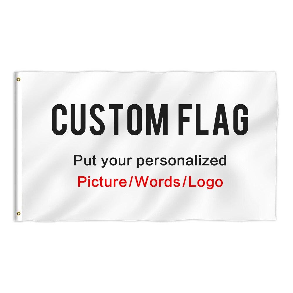 Bandera personalizada con su logotipo de imagen personalizada para regalos personalizados DIY bandera para exteriores de poliéster 4x6 huella de pie de un lado